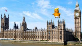 Trump Baby over Parliament