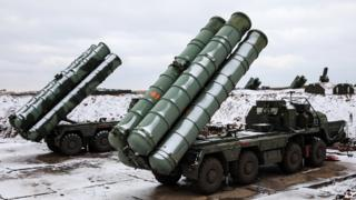 Russian S-400s in Ukraine's Crimea peninsula. Photo: November 2018