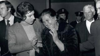 Maria Minichiello cries outside court in 1971
