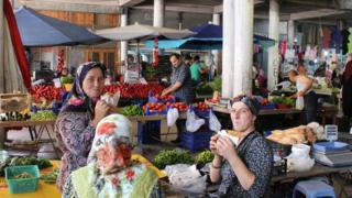 سوق شعبي في مدينة سينوب التركية