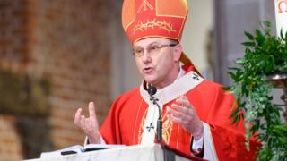 Image shows Polish Archbishop Wojciech Polak