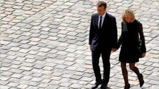 امانوئل مکرون، رییسجمهوری فرانسه-- بریژیت مکرون