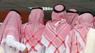 Miembros de la familia real Saudita. Foto tomada en 2012.