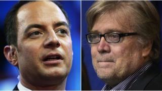 Солдо Райнс Прибус менен Стивен Беннон шайлоо алдындагы өнөктүк учурунда Трамп менен чогуу иштешкен