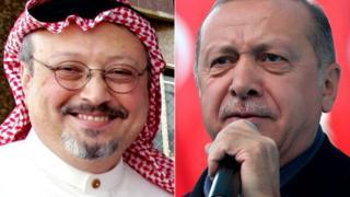 Sawirrada Madaxweynaha Turkiga Erdogan iyo weriye Jamaal Khaashuqji