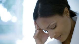 Depressed woman (model released)