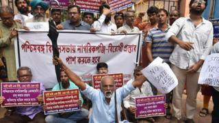 एनआरसी के खिलाफ़ विरोध प्रदर्शन
