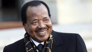 Cameroon president Paul Biya