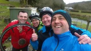 Round Table members training for their Children in Need challenge