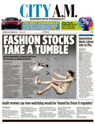 City AM front page