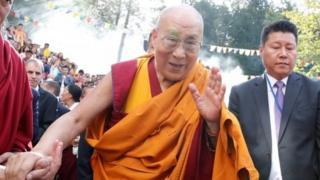 Tibetan spiritual leader the Dalai Lama arrives for his visit to the Tibet Institute Rikon in Rikon, Switzerland September 21, 2018.