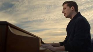 Charlie Puth in the video for See You Again