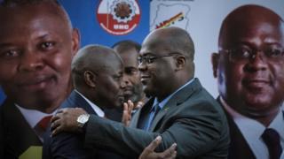 Vital Kamerhe (G) et Felix Tshisekedi
