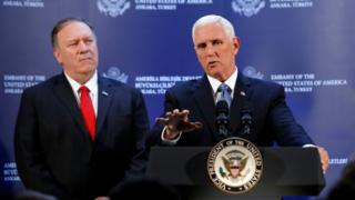 Mike Pompeo and Mike Pence