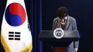 Bà Park đang bị ngưng nhiệm khi chờ phán quyết của tòa án hiến pháp