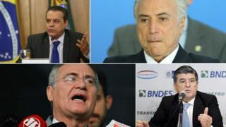 Henrique Eduardo Alves, Michel Temer, Sérgio Machado e Renan Calheiros