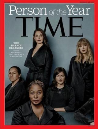 Clockwise from top: Ashley Judd, Taylor Swift, Susan Fowler, Adama Iwu and Isabel Pascual