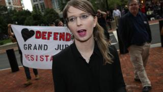 Chelsea Manning pictured on 16 May 2019