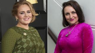 Singer Adele and Laura Dockrill