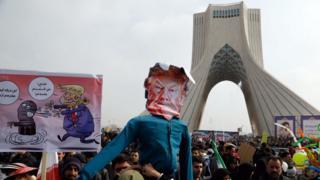 Efigie de Trump en Irán
