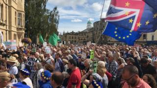 Protesters in Oxford