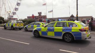 Police at Worthing seafront