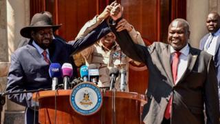 Salva Kiir na Riek Machar