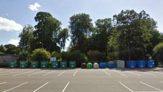Recycling site in Welshpool