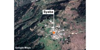 Aerial view of Syaba