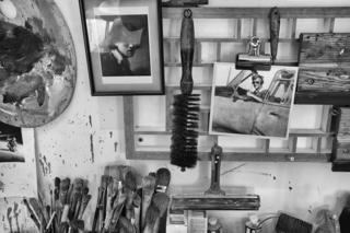 Father and son: Laughton studio
