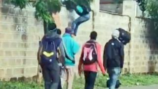 People were filmed escaping from the quarantine centre in Kenya Medical Training College