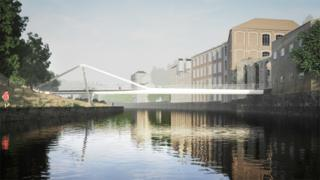 Bath Quays Bridge design