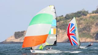 Ireland and GB compete in Rio Olympics 2016 sailing race