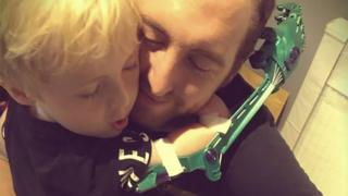 Adam Dengel and son Thomas