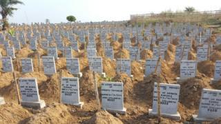 The graves of stillborn children in Sierra Leone