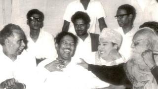 అన్నాదురై, ఎంజీఆర్, పెరియార్ రామసామిలతో కరుణానిధి