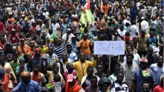 A Lomé, la capitale elle se déroule dans le calme et sous encadrement de la police