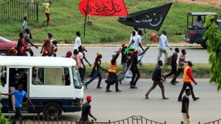 Abuja procession of IMN members on Ashura day