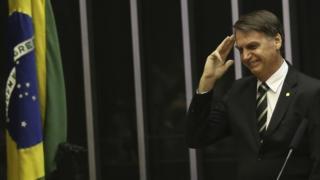 Jair Bolsonaro em sessão do Congresso