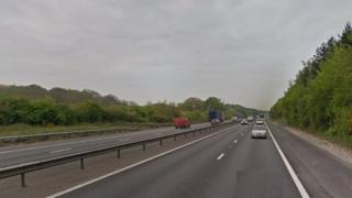 A3(M) between junctions 2 and 3 in Waterlooville