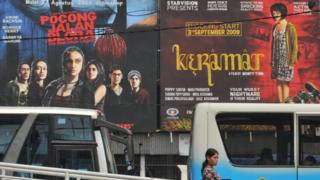 baliho film di bioskop di Jakarta
