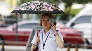 တောင်ကိုရီးယား၊ အပူချိန်