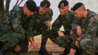 Soldats du 75e régiment des Rangers du 3e bataillon américain qui étaient en mission en Somalie (illustration)