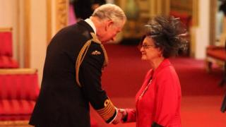 Liese Bowers-Straw is made an MBE by Prince Charles