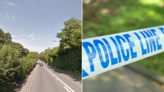 The A472 and police tape