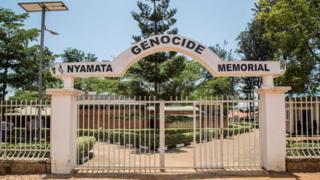 Photo montrant l'entrée du Mémorial du génocide de Nyamata, à Kigali.
