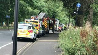 Scene of Newcastle controlled explosion