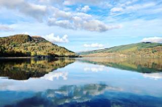Reflection on loch