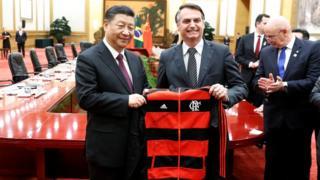 Xi Jinping e Bolsonaro