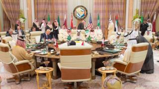 اجتماع قادة مجلس التعاون الخليجي مع الرئيس الأمريكي دونالد ترامب قبل انطلاق قمة الرياض مايو/ أيار 2017